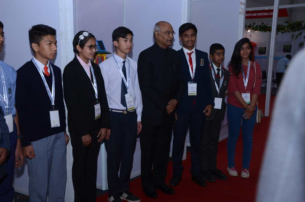 Anuj Navnath Lonkar With President of India
